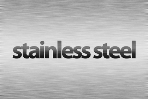 Design Realistic Stainless Steel Background and Text